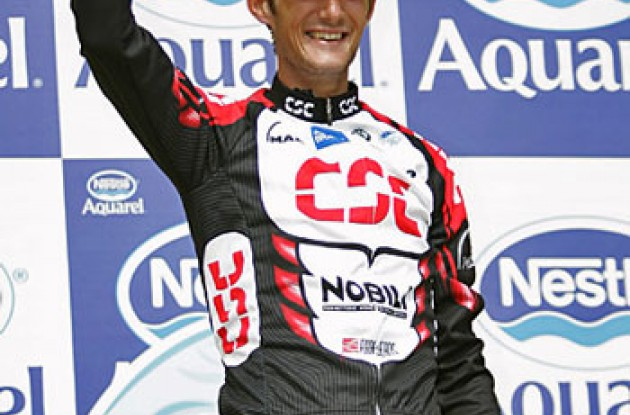 "Frank Schleck took the stage win today. Photo copyright Ben Ross/Roadcycling.com/<A HREF=""http://www.benrossphotography.com"" TARGET=_BLANK>www.benrossphotography.com</A>."