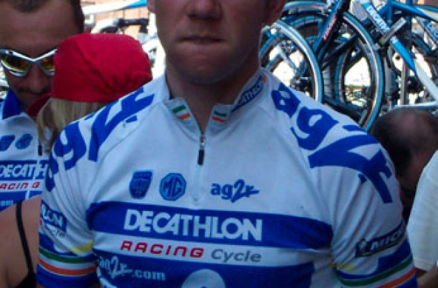 Marc Scanlon looks focused. Photo copyright Roadcycling.com.