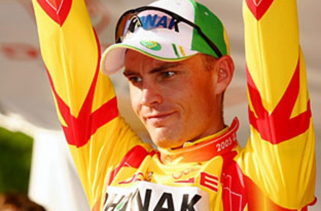 Robert Hunter (Phonak) will wear the leader's jersey in tomorrow's stage. Photo copyright Ben Ross/Roadcycling.com.