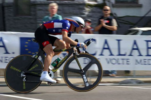 Leipheimer in a comeback attempt. Photo copyright Paul Sampara Photography.