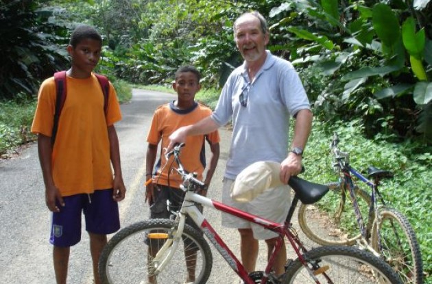 Paul Rogen with riding pals, Winston and Duncan in Panama.