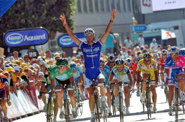Tom Boonen takes the win.