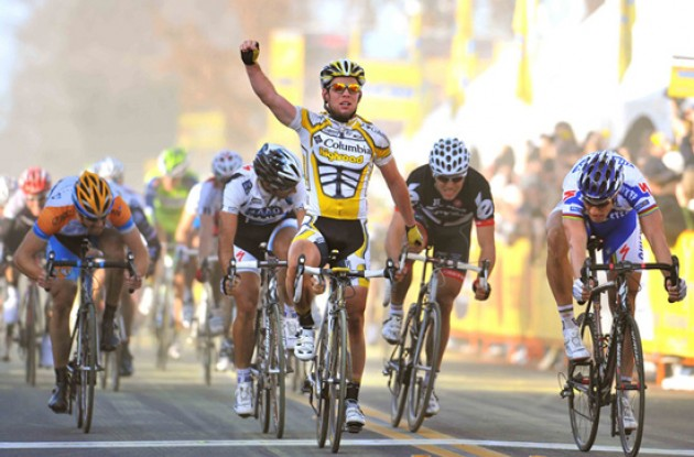 Mark Cavendish wins stage 4 of the 2009 Amgen Tour of California. Photo copyright TDWsports.com.