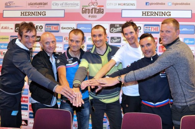 A selection of the star riders who will take part in the 2012 Giro d'Italia revealed their hopes and ambitions for the 95th edition of the race, which starts in Herning, Denmark tomorrow afternoon.