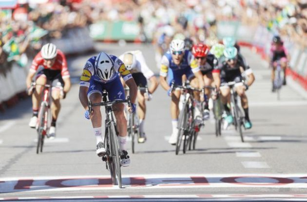 Britain's Adam Blythe finishes third in second stage of Vuelta a España