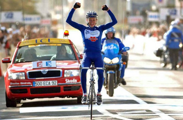 One of the Liberty Seguros–Würth Kazakhs Andrey Kashechkin last week won a stage at Paris-Nice. Photo copyright Fotoreporter Sirotti.