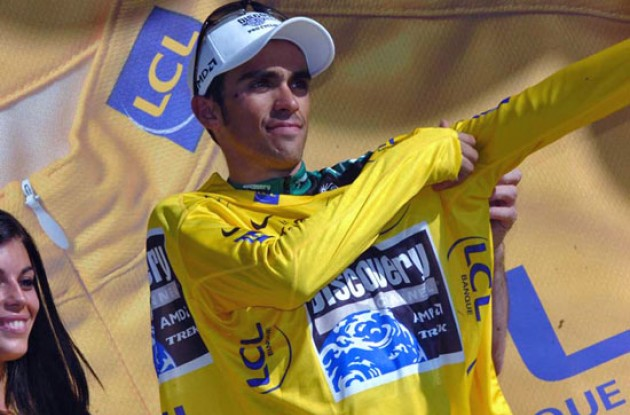 Contador on the podium.