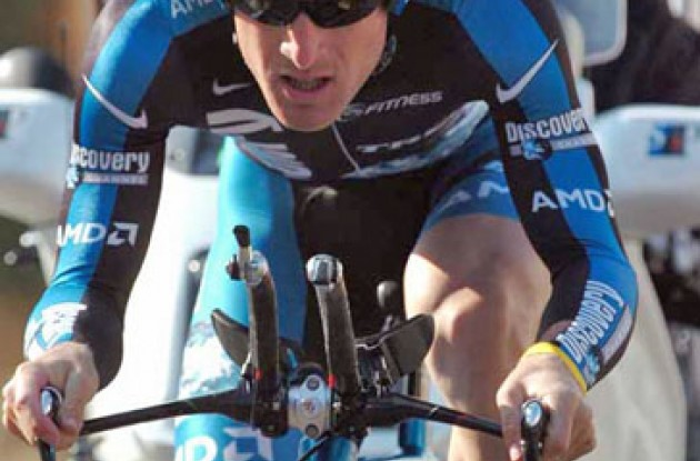 Levi Leipheimer showed good form today. Photo copyright Fotoreporter Sirotti.