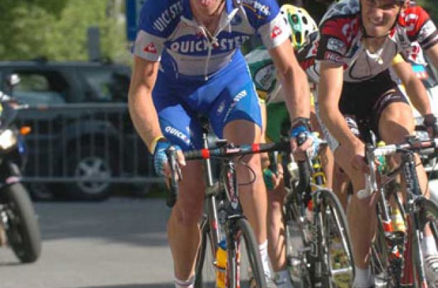 Michael Rogers during his time with Team Quick Step. Photo Fotoreporter Sirotti.
