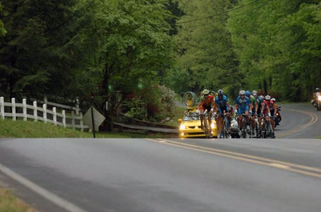 Early into today's stage a group of 12 riders broke away from the peloton.