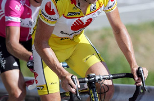 Chris Horner and Jan Ullrich climbs in this year's Tour of Switzerland. Photo copyright Roadcycling.com.