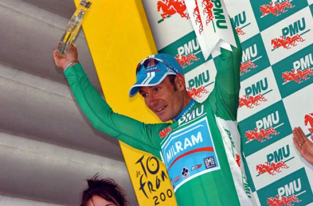 Erik Zabel claimed the lead - and green jersey - in the sprinter competition.