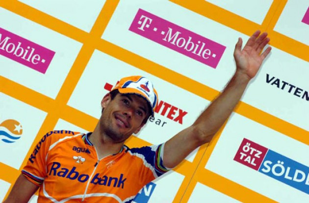 Freire on the podium. Photo copyright Fotoreporter Sirotti.