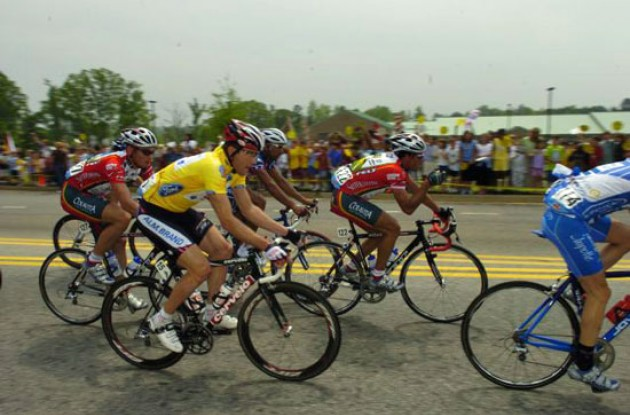 Lars Michaelsen in the Ford Yellow Leader's Jersey during Stage 2.