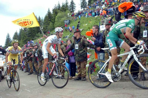 Piepoli, Schleck and Simoni.