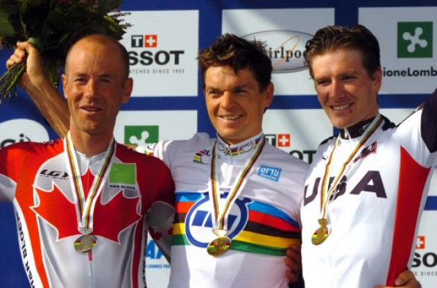 Bert Grabsch (Germany), Svein Tuft and David Zabriskie on the podium.