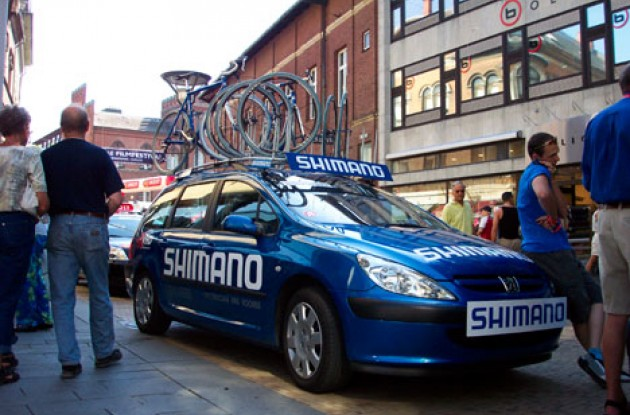 Shimano offers neutral support to riders taking part in the Tour of Denmark. Photo copyright Roadcycling.com.