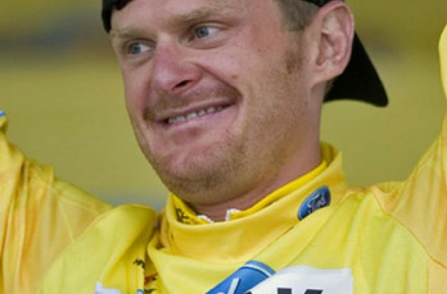 Floyd Landis of Phonak Hearing Systems - iShares won Thursday's Time Trial and took the lead in the Overall classification.