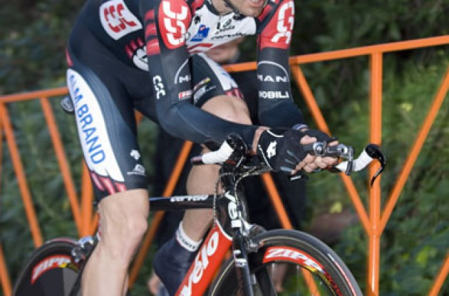 Bobby Julich in time trial position. Photo copyright Roadcycling.com.