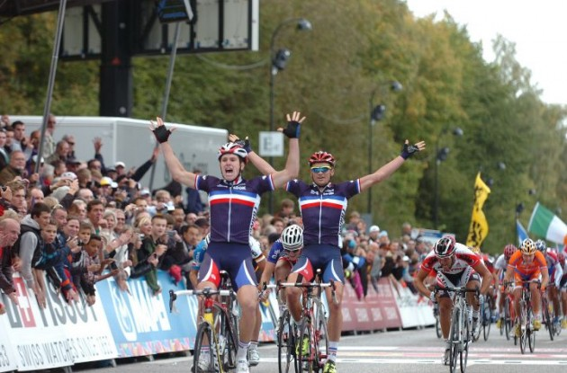 Double victory for France's World Cup team in Denmark. Photo Fotoreporter Sirotti.
