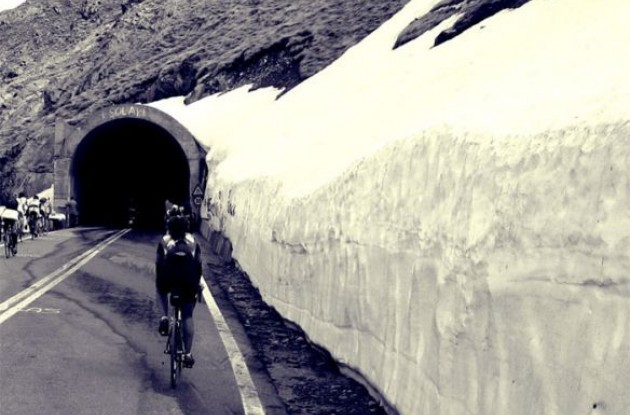 The Gavia tunnel and the Cima Coppi for the 2010 Giro d'Italia.