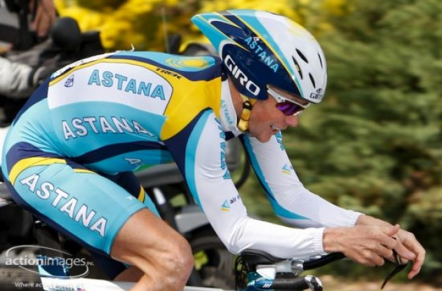 Chris Horner - Team Astana. Photo copyright Ben Ross / Action Images Inc.
