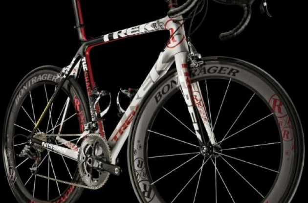 2010 Team RadioShack Trek Madone bike.