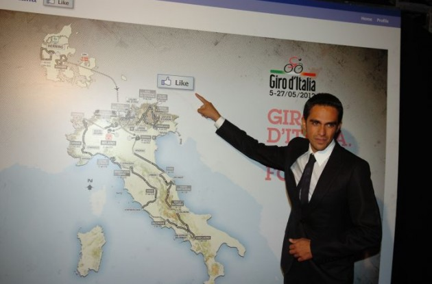 Alberto Contador likes the 2012 Giro d'Italia route ... but doesn't plan to participate in the Giro. Photo Fotoreporter Sirotti.