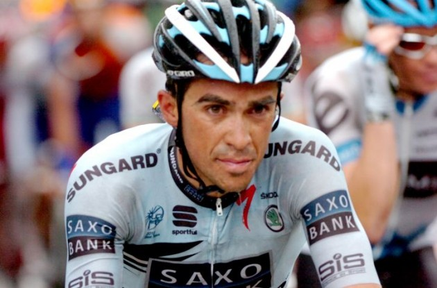 Team Saxo Bank-SunGard's Alberto Contador. Photo Fotoreporter Sirotti.