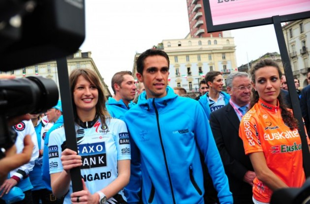 Alberto Contador's systems are all up and running - ready for the 2011 Giro d'Italia. Photo Fotoreporter Sirotti.