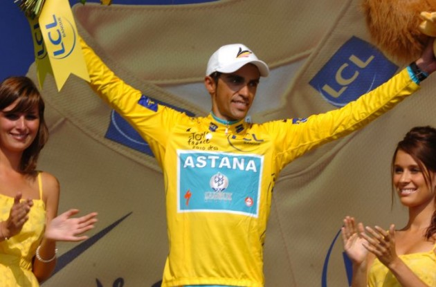 Alberto Contador (Team Saxo Bank-SunGard). Photo Fotoreporter Sirotti.