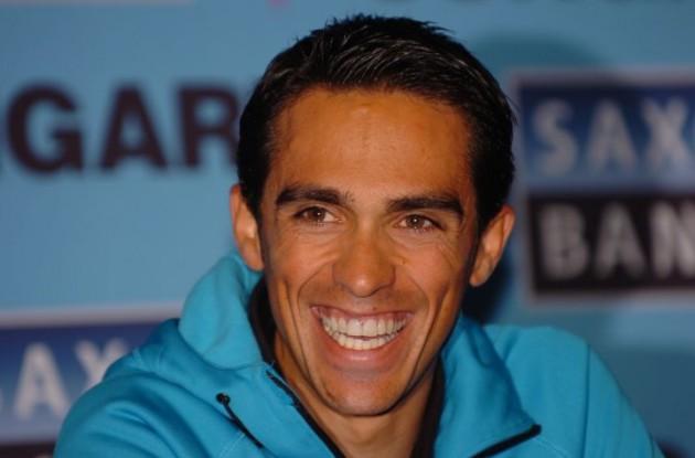 Alberto Contador. Photo Fotoreporter Sirotti.