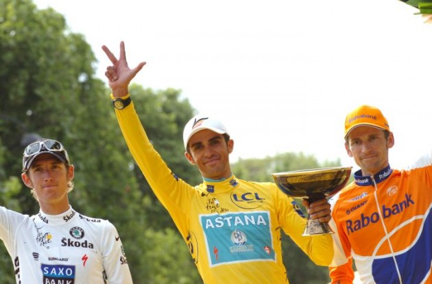 Alberto Contador is the winner of the 2010 Tour de France