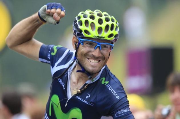 Alejandro Valverde on his way to victory in stage 17 of the 2012 Tour de France. Photo Fotoreporter Sirotti.