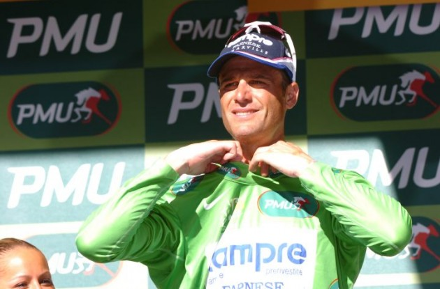 Team Lampre has included sprinter Alessandro Petacchi in its 2010 Vuelta a Espana squad even though the sprinting standout could face a doping suspension from the Italian Olympic Committee. Photo copyright Fotoreporter Sirotti.