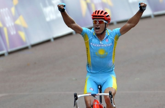 Alexandre Vinokourov wins 2012 London Summer Olympics' road race. Photo Fotoreporter Sirotti.