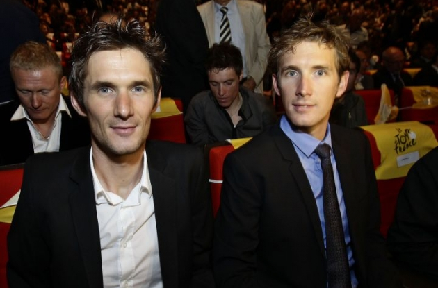 Frank Schleck (left) and Andy Schleck. Photo Fotoreporter Sirotti.