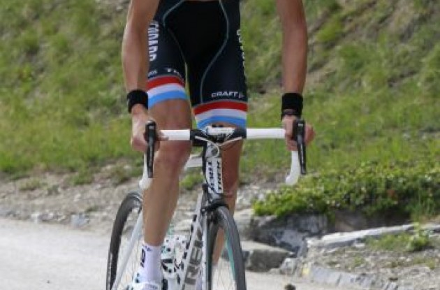 Andy Schleck. Photo copyright Fotoreporter Sirotti.