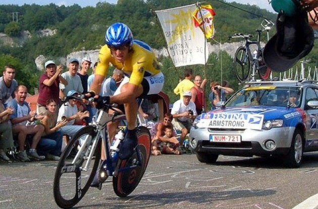 Lance Armstrong ... pure power to the pedals.