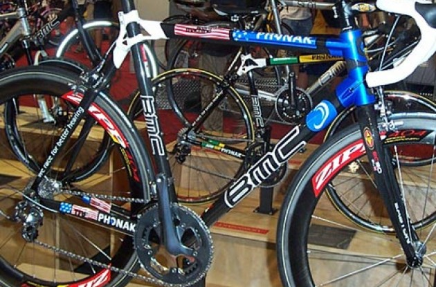 Tyler Hamilton's Olympic bike. Photo copyright Roadcycling.com.