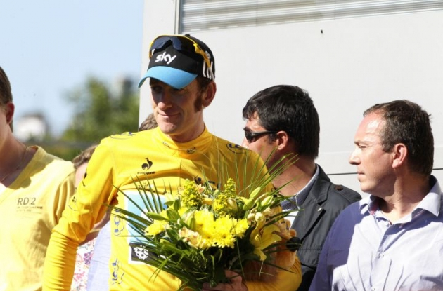 Bradley Wiggins looks set to take the overall victory in the 2012 Tour de France. Photo Fotoreporter Sirotti.