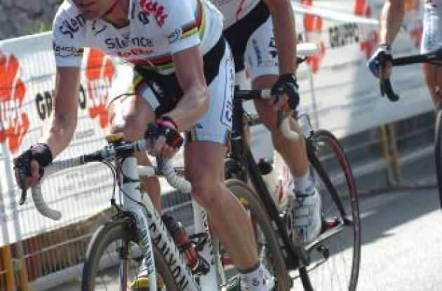 World Champion Cadel Evans (now Team BMC Racing). Photo copyright Fotoreporter Sirotti.