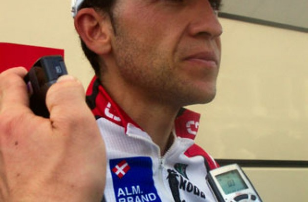 Third place finisher in this year's Vuelta a Espana, Carlos Sastre, has agreed to stay with Bjarne Riis' Team CSC. We wish Carlos all the best. Photo copyright Roadcycling.com.