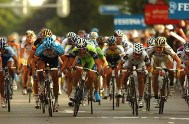 Gerald Ciolek wins stage 2 of the 2009 Vuelta a Espana. Photo copyright Fotoreporter Sirotti.