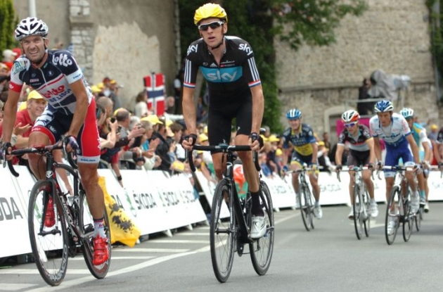 Team Sky's Bradley Wiggins. Photo Fotoreporter Sirotti.