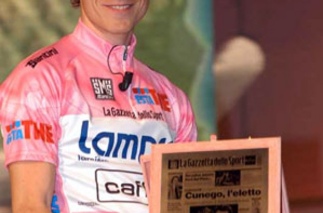 Damiano Cunego thinks this year's Giro route suits him. Photo copyright Fotoreporter Sirotti.