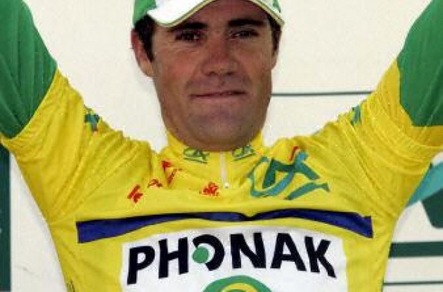Phonak's Gutierrez won today's stage and took the overall lead.