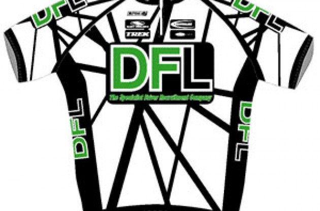 Team DFL jersey. Photo copyright Roadcycling.com.