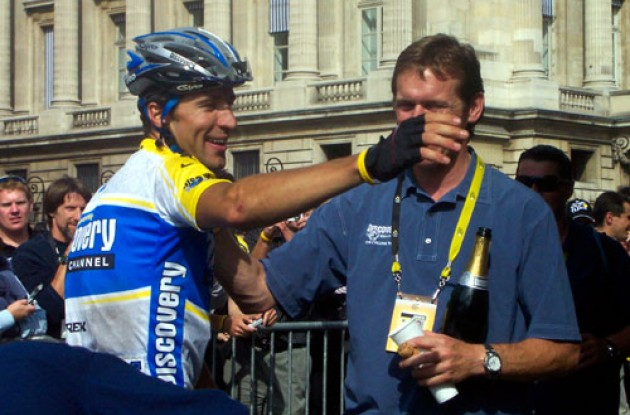 Let's celebrate! Photo copyright Roadcycling.com.