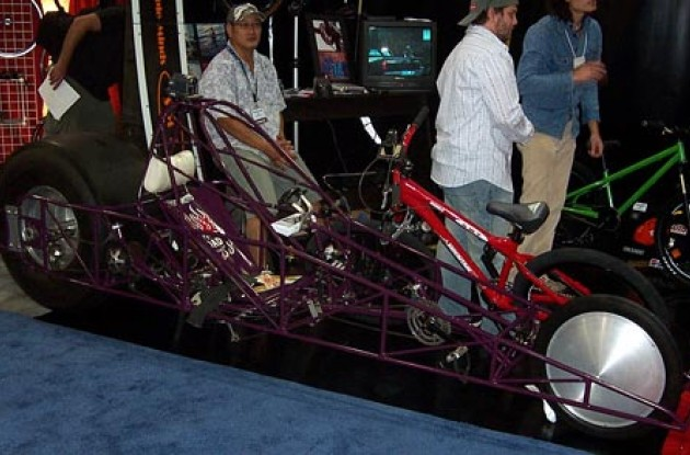 Steve Gaskey's Bicycle Dragster. Photo copyright Roadcycling.com.